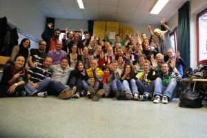 Teilnehmern und Referenten der Deaf Youth Way in Hamburg